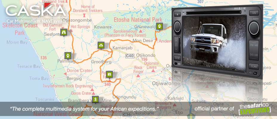 The Safari Co. Expeditions with CASKA Multimedia & Navigation Systems