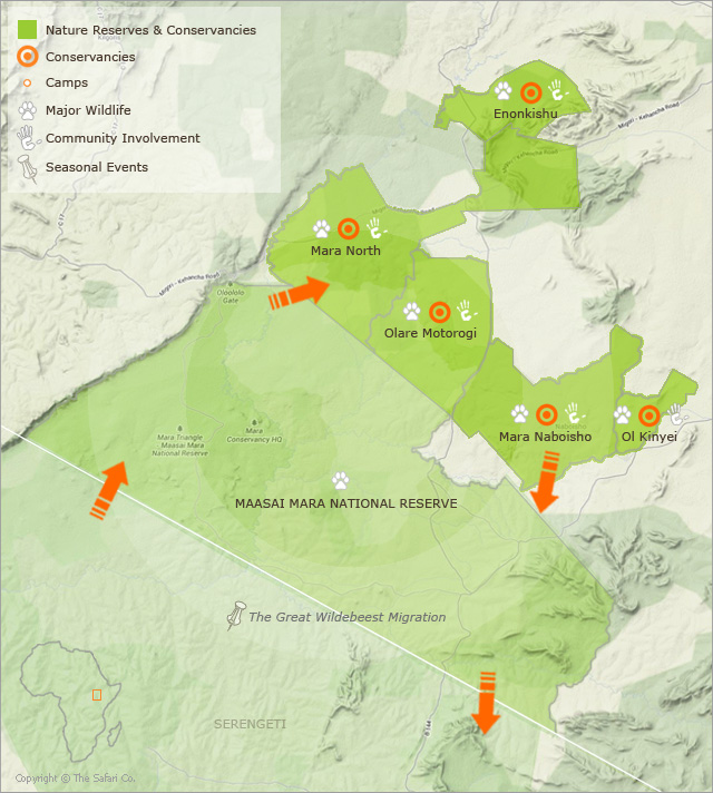Map of Masai Mara | Mara Conservancies